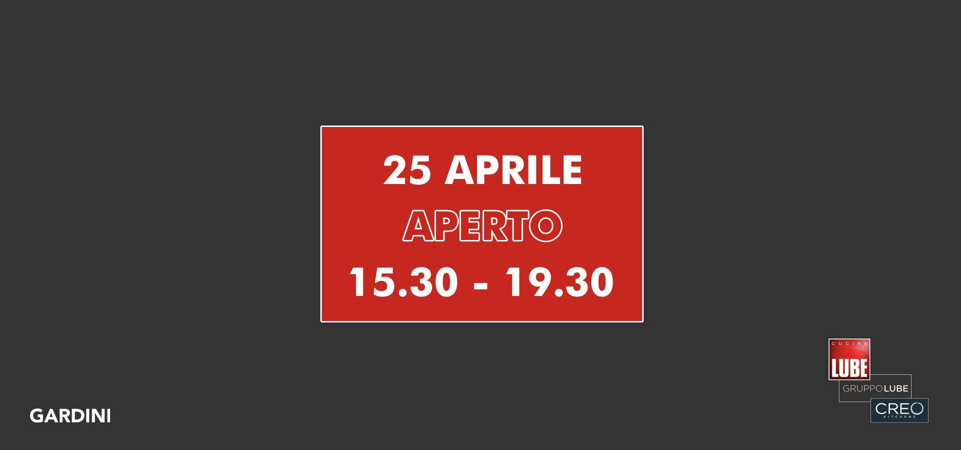 25 aprile aperto pome